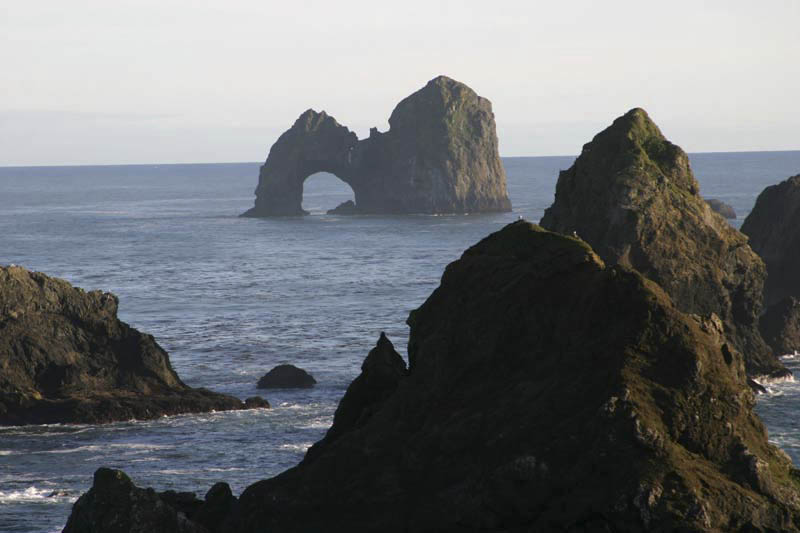 Sea stacks and sea arch, Oregon – Geology Pics